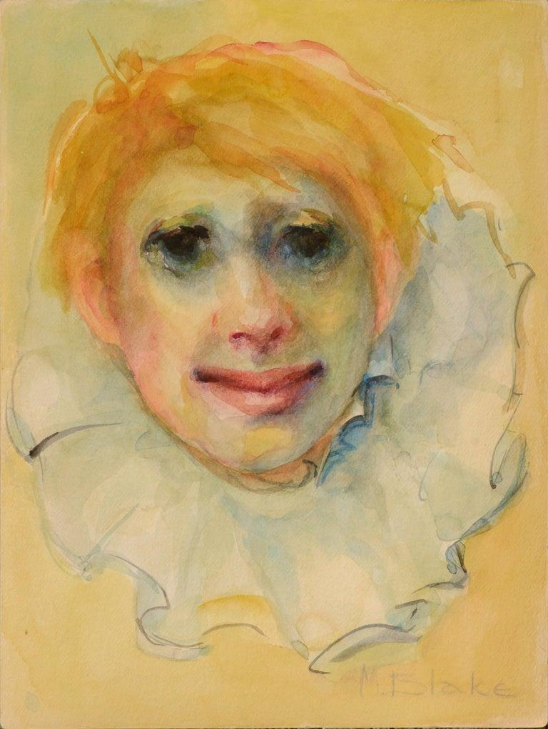 Marjorie May Blake Figurative Art - Clown Portrait #11