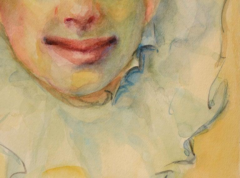 Clown Portrait #11 - Beige Figurative Art by Marjorie May Blake