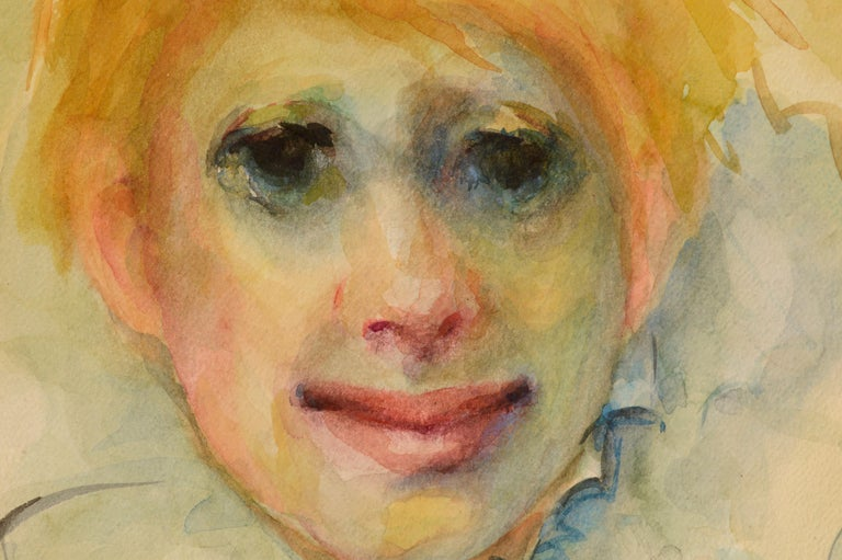 Clown Portrait #11 - American Impressionist Art by Marjorie May Blake