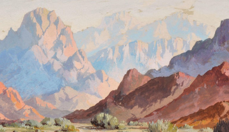 Mid Century Palm Springs Desert Landscape - Realist Painting by Ralph Arthur Lytle