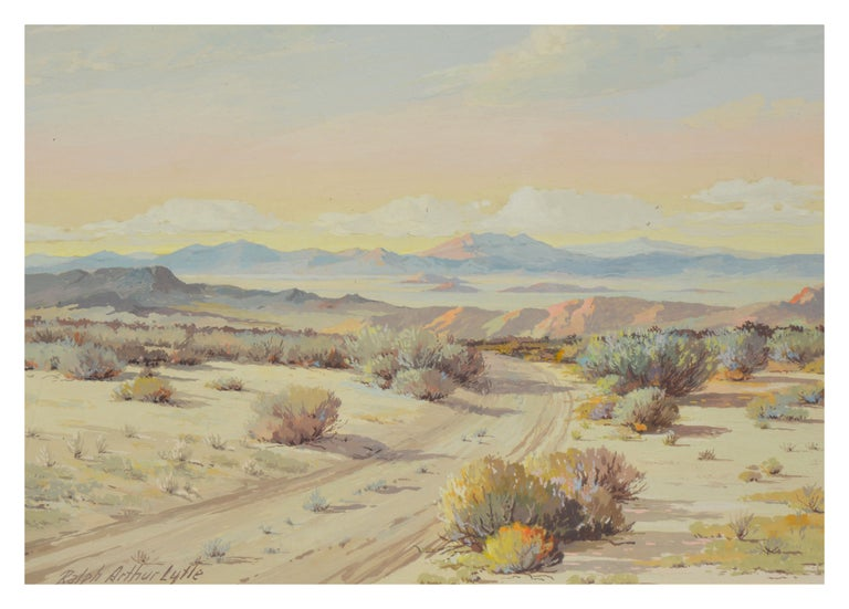 Mid Century Palm Springs Desert Landscape - Painting by Ralph Arthur Lytle