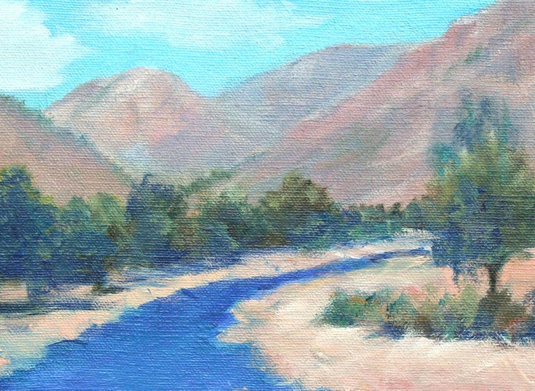 Southern California Plein Air Mountain Stream Landscape - American Impressionist Painting by G. Taft