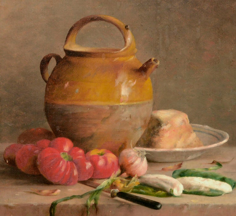 Turn of the Century French Provincial Still Life  - Impressionist Painting by Etienne Lembeye