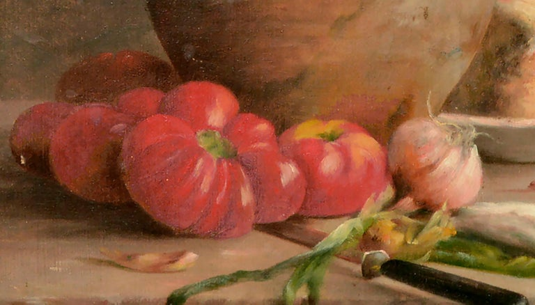Turn of the Century French Provincial Still Life  - Brown Still-Life Painting by Etienne Lembeye