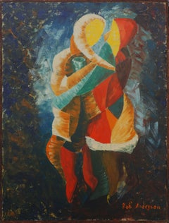 Harlequin Dance Abstracted Figurative