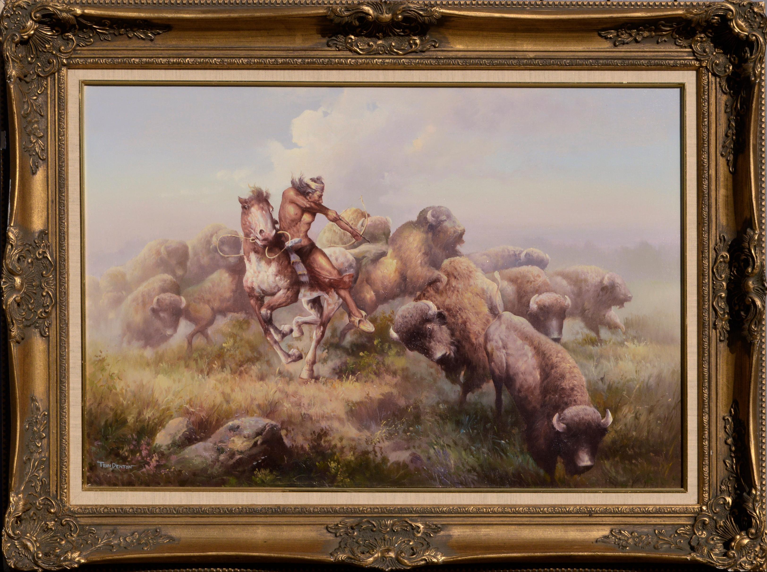 Buffalo Hunt with Bow