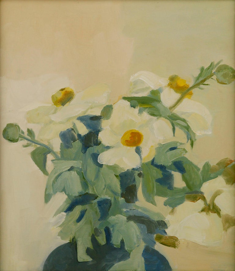 Matilija Poppies Botanical Still Life  - Painting by Josephine Guerra