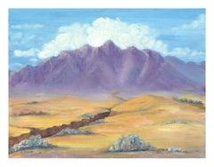 Purple Desert Mountain Landscape