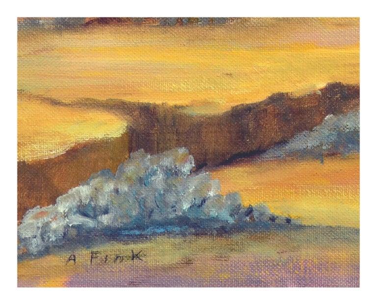 Purple Desert Mountain Landscape  For Sale 3