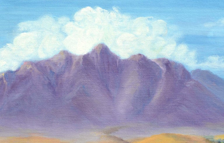 Purple Desert Mountain Landscape  - American Impressionist Painting by Alice M. Fink