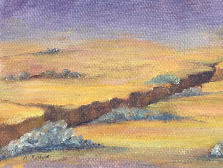 Purple Desert Mountain Landscape  For Sale 2