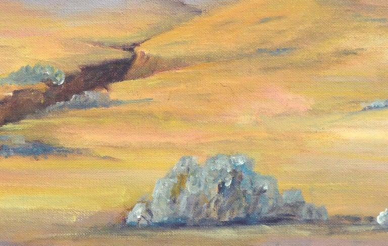 Purple Desert Mountain Landscape  For Sale 1