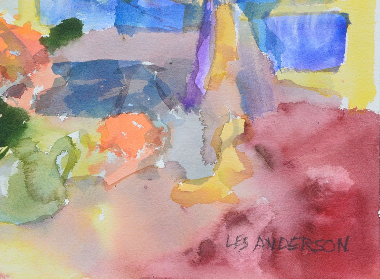 Colorful Watercolor Still-Life  For Sale 3