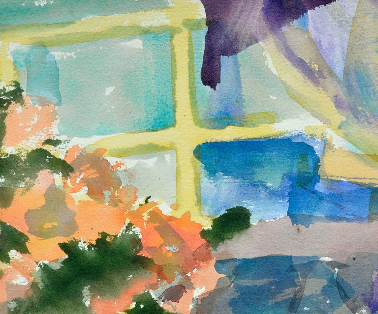 Colorful Watercolor Still-Life  For Sale 1