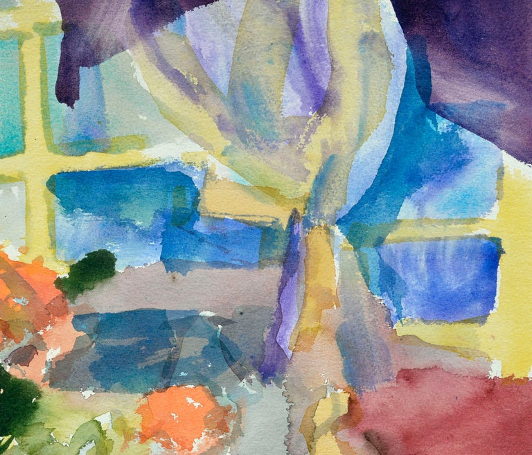 Colorful Watercolor Still-Life  For Sale 2