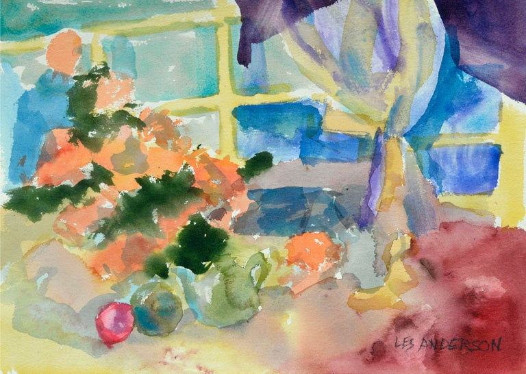 Colorful Watercolor Still-Life  - Art by Les Anderson
