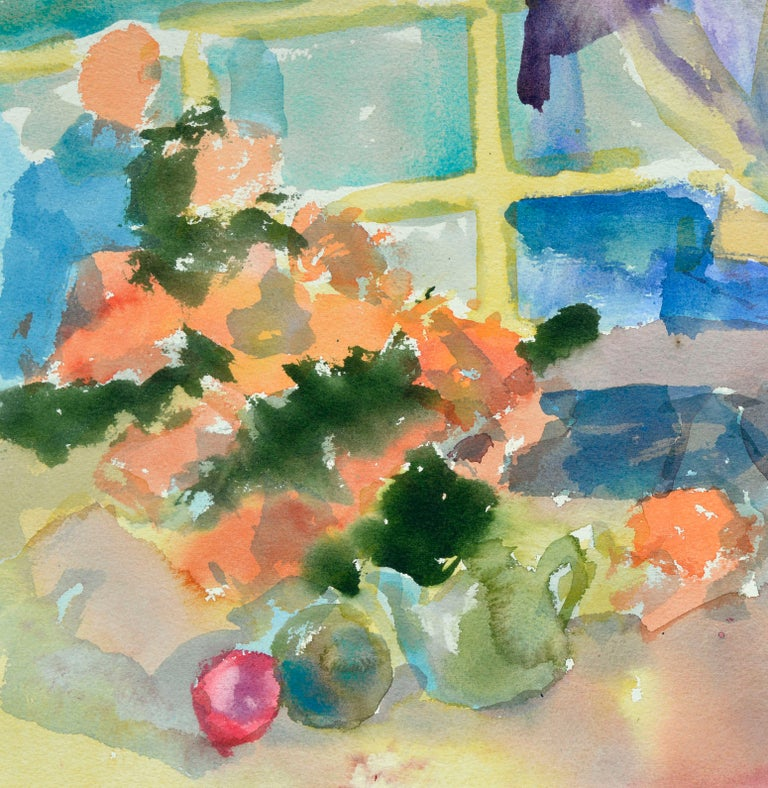 Colorful Watercolor Still-Life  - American Impressionist Art by Les Anderson
