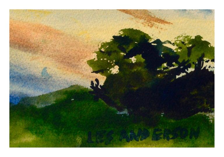 Walk on the Beach Watercolor - Coastal Figurative Landscape  For Sale 2