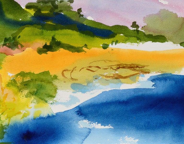 New Brighton Eucalyptus Landscape  - American Impressionist Art by Les Anderson