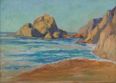 Midcentury Pescadero Coast Seascape