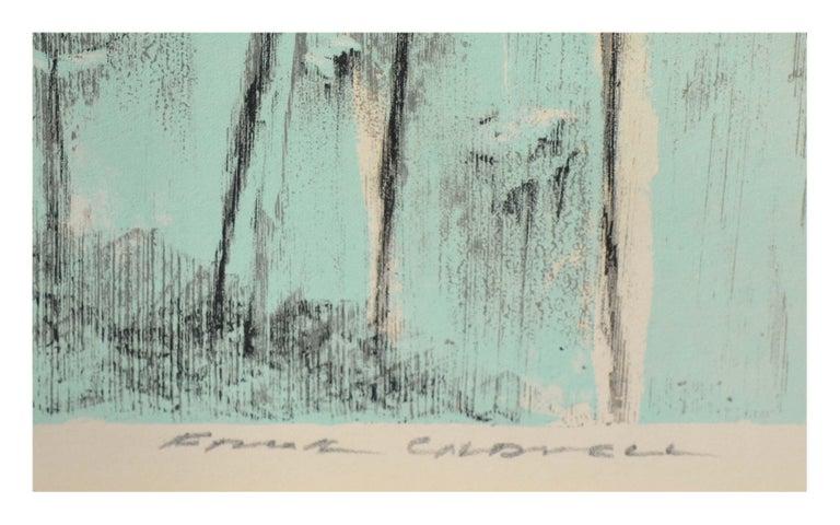Avalon Bay, Catalina Island Landscape - Gray Landscape Print by Frank Caldwell