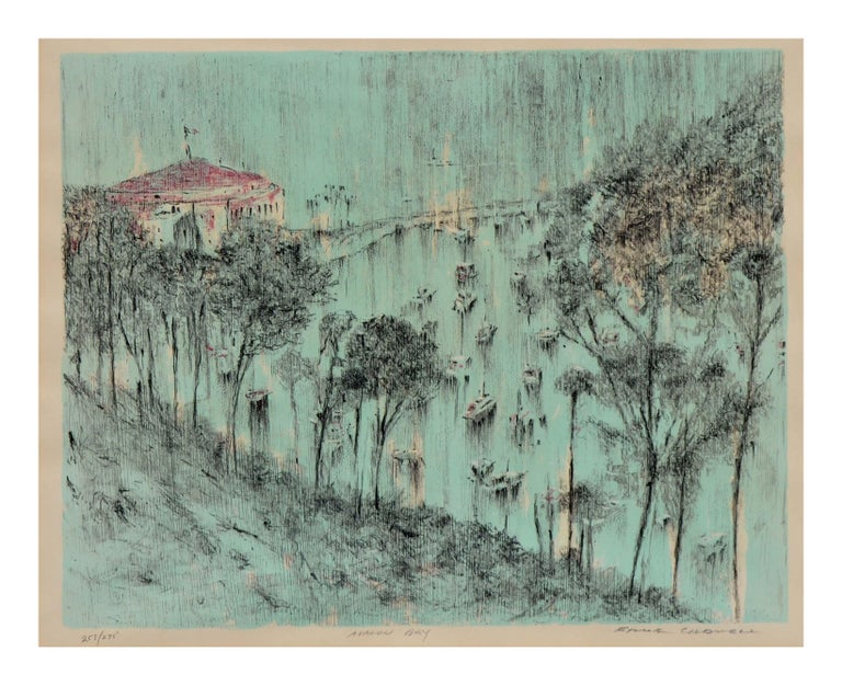Avalon Bay, Catalina Island Landscape - Print by Frank Caldwell