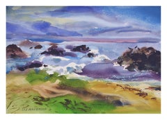 Purple Coast Landscape