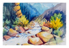 Mountain Stream Landscape