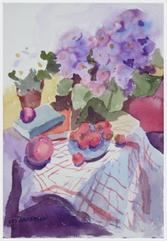 Primroses and Fruit Still Life