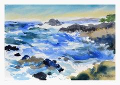 Big Sur Rocky Coast Landscape
