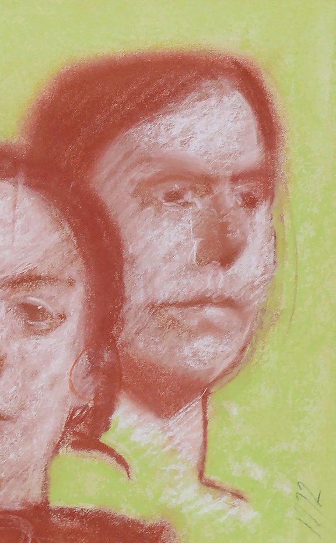 Four Faces - Portrait Study by Clayton Anderson For Sale 3