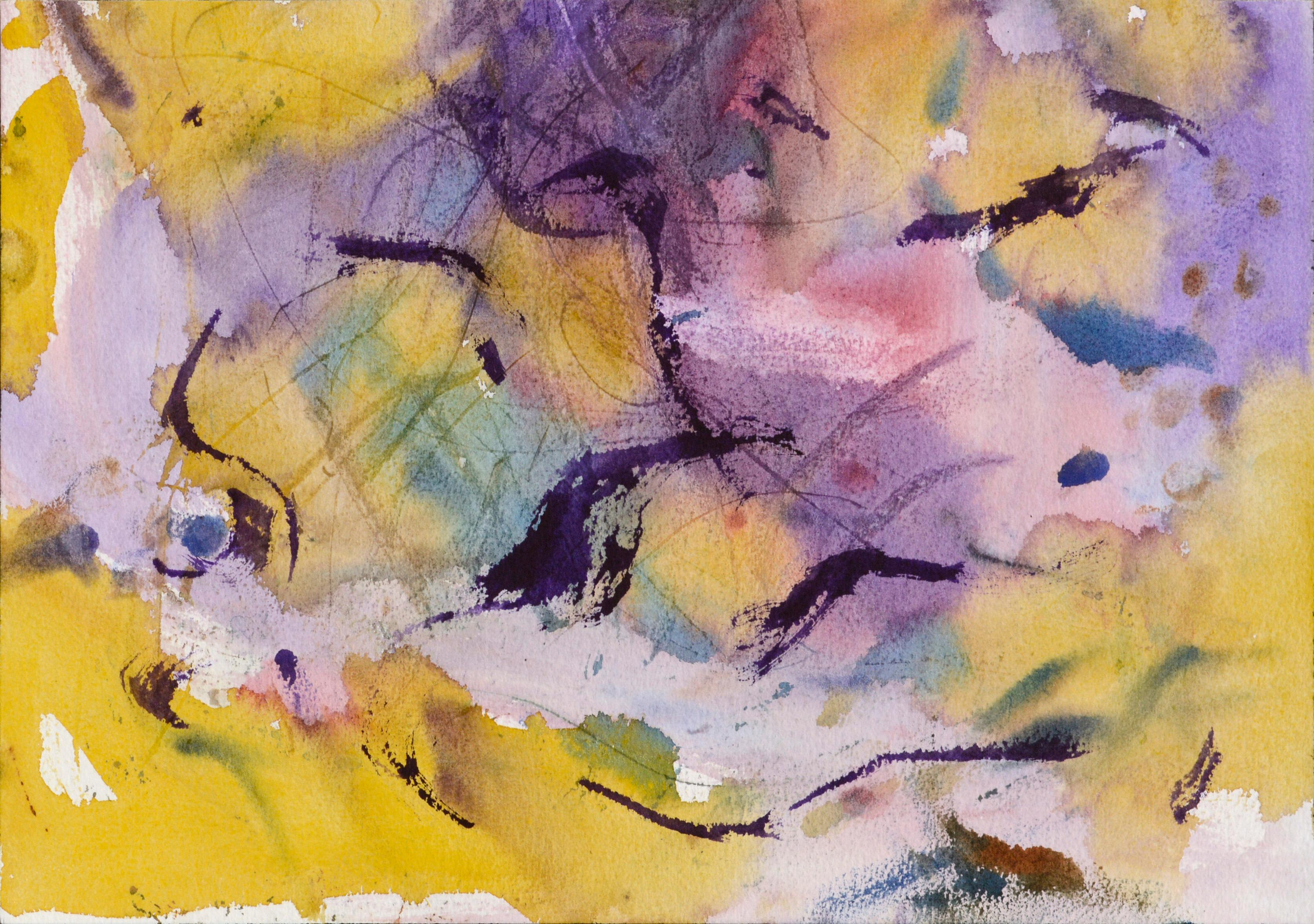 Purple and Yellow Abstract