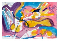 Yellow & Pink Abstract