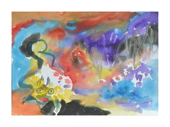 Sea Creatures Abstract Watercolor
