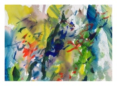 Yellow & Green Abstract Watercolor