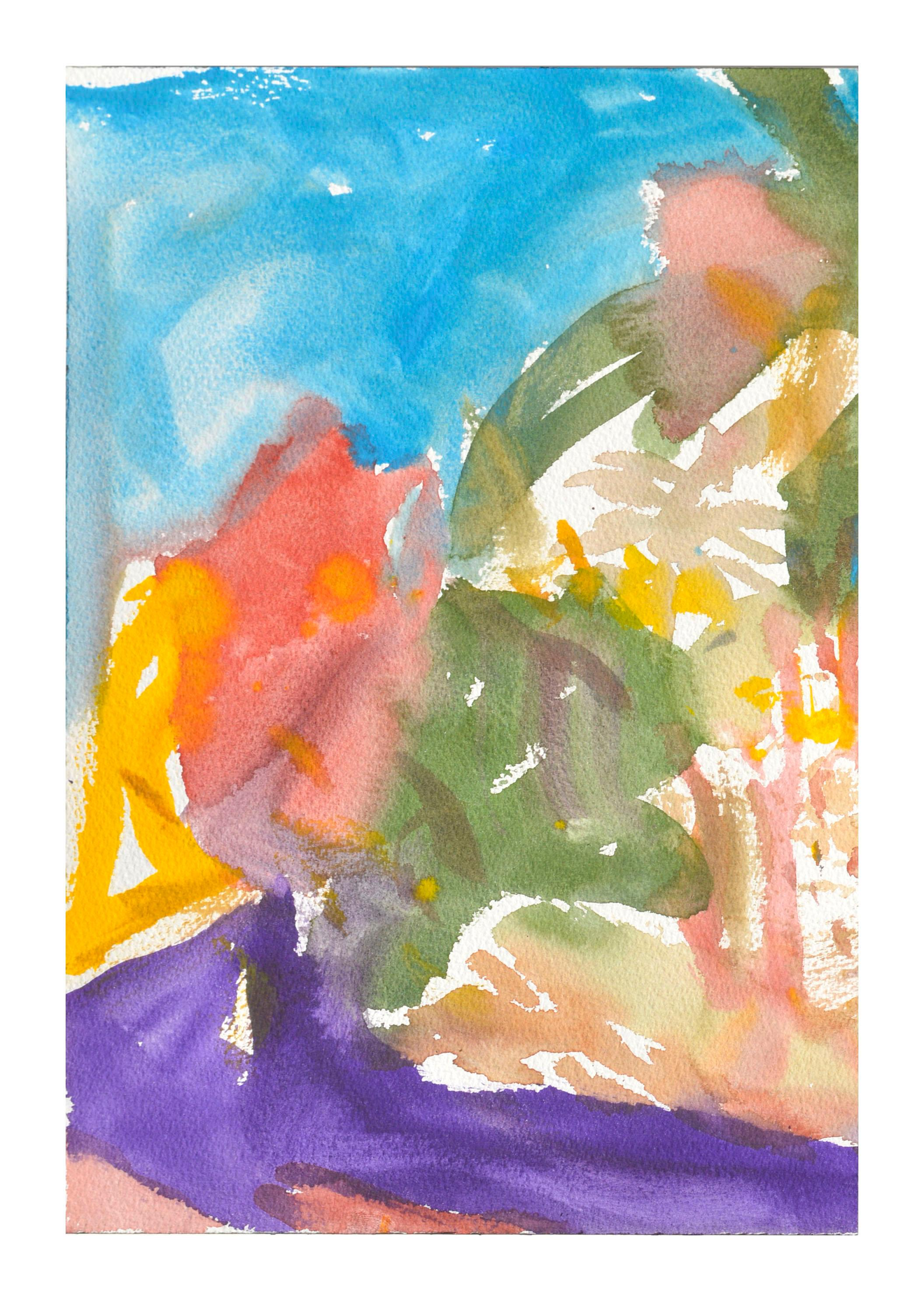 Abstract Landscape Watercolor