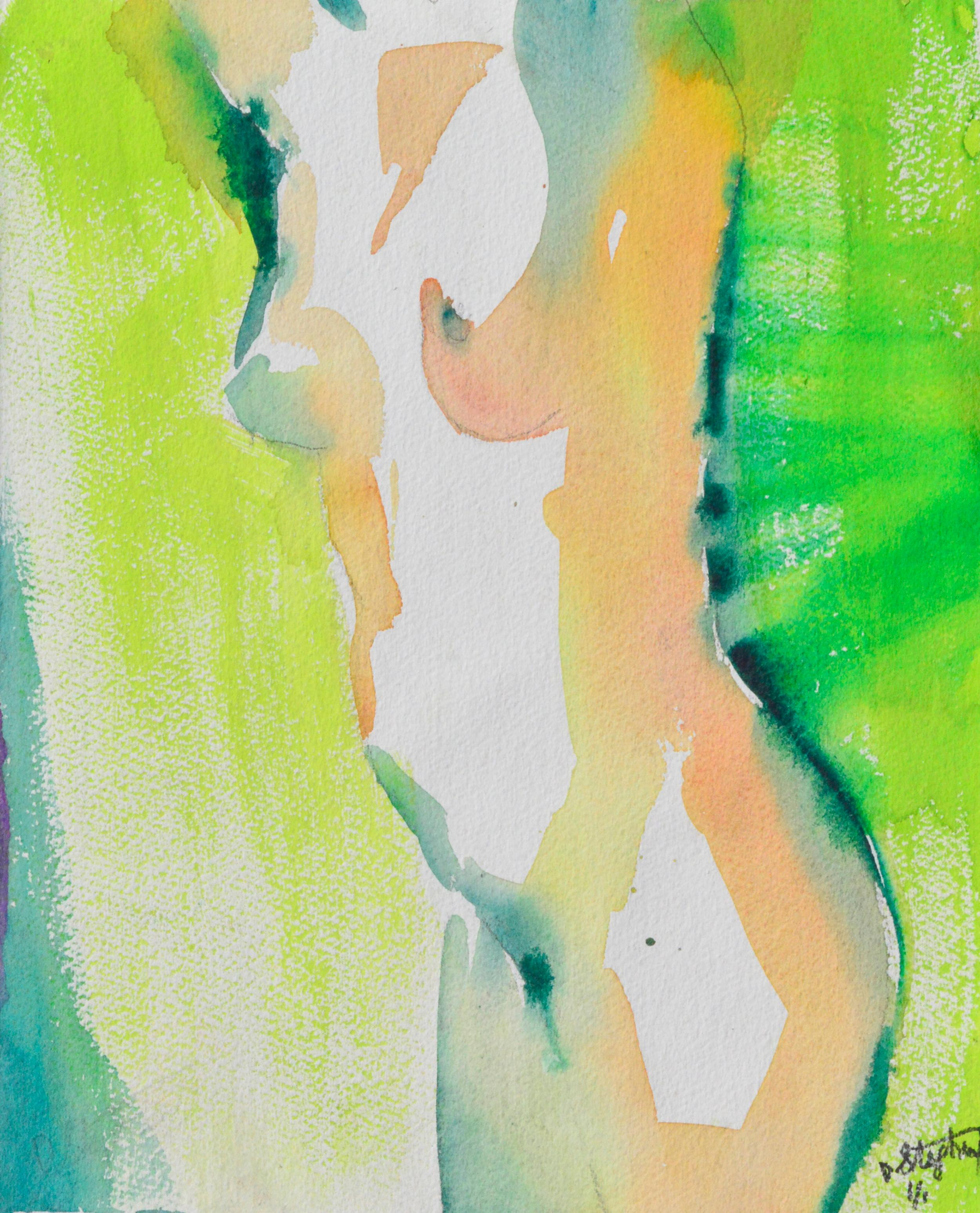 Green Nude Woman's Torso