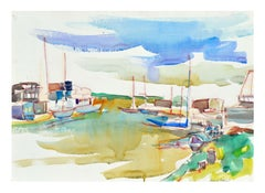Sail Boats in the Harbor Landscape