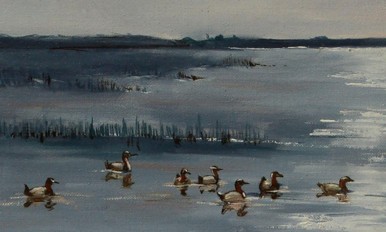 Seascape with Flock of Ducks  For Sale 1