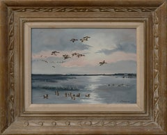 Seascape with Flock of Ducks