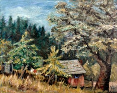 Cabin in the Trees Landscape