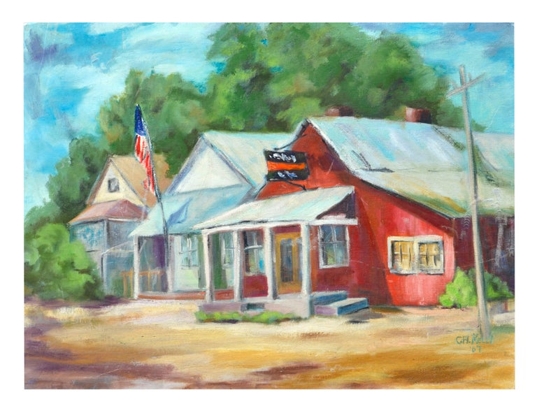 Carol H. Kelly Landscape Painting - Country Town Landscape