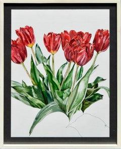 Red Tulips Botanical Study