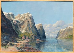 Norwegian Fjord Landscape by Lundborg