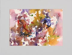 Abstract Splashes of Yellow, Red, and Purple