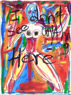 "Abstract Expressionist Figure - ""I Don't See Anything Here"""