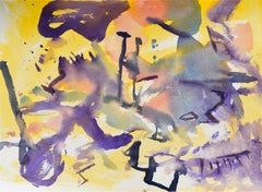 Purple Abstract Watercolor