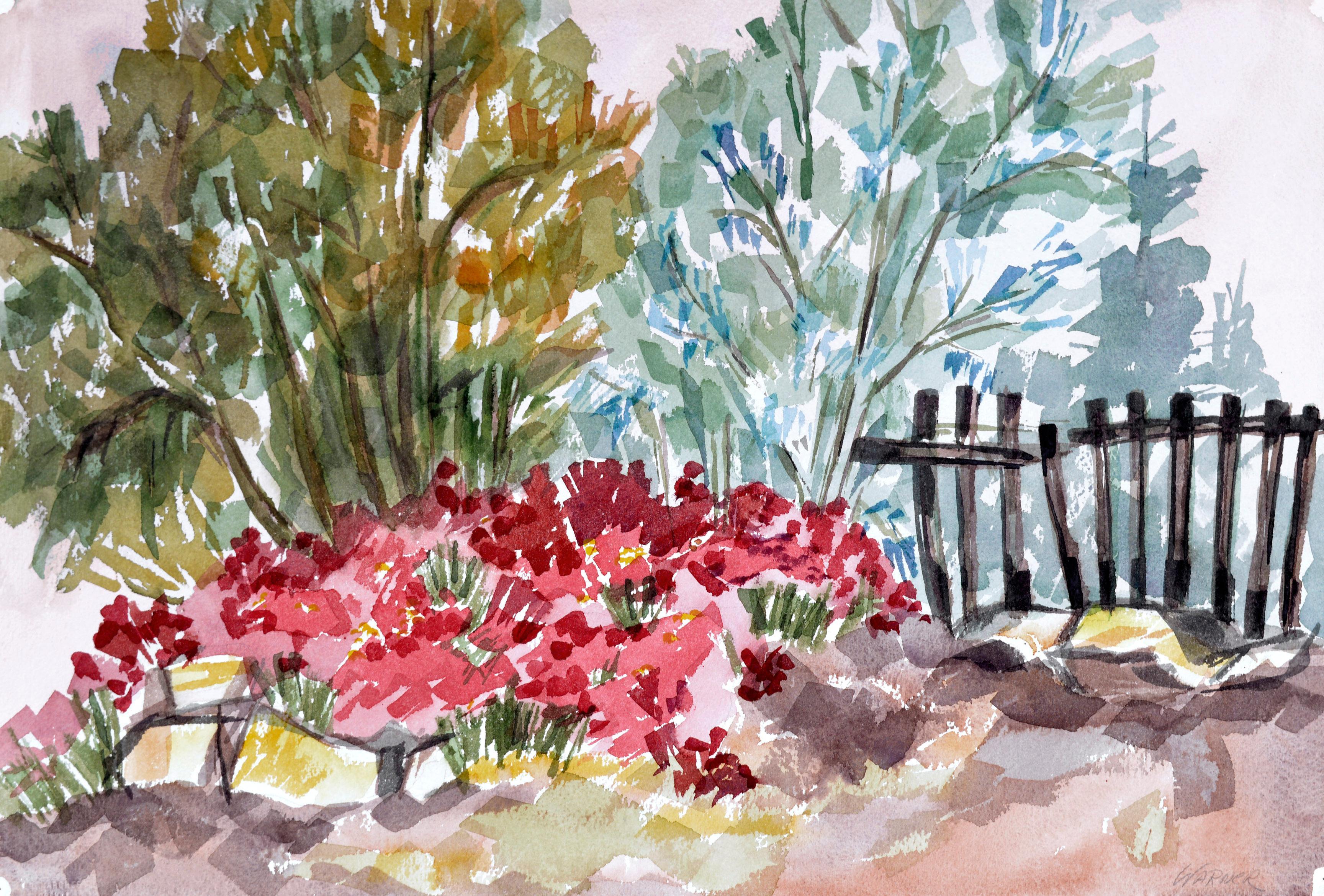 Garden Flowers Landscape