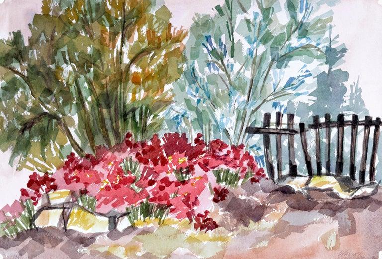 Doris Warner Landscape Art - Garden Flowers Landscape