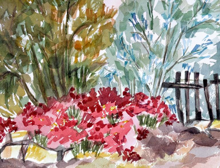 Garden Flowers Landscape  - Art by Doris Warner